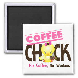 Coffee Chick 2 Fridge Magnet