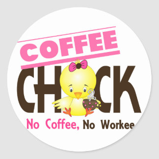 Coffee Chick 2 Round Stickers