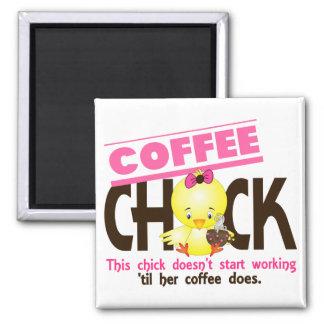 Coffee Chick 3 Refrigerator Magnet