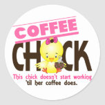 Coffee Chick 3 Sticker