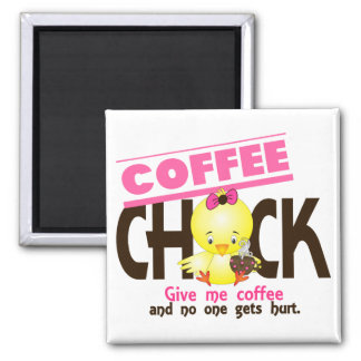 Coffee Chick 4 2 Inch Square Magnet