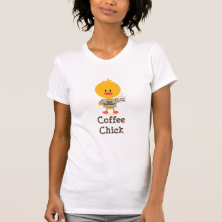 Coffee Chick Distressed Tee Shirt