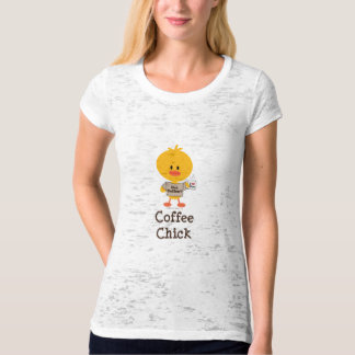 Coffee Chick Fitted Burnout Tee