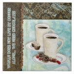 Coffee & Chocolate Java Kitchen Art Dessert Candy Ceramic Tile