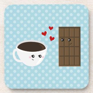 Coffee & Chocolate Love Beverage Coaster