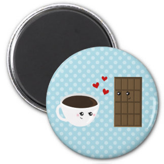 Coffee & Chocolate Love 2 Inch Round Magnet