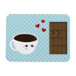 Coffee & Chocolate Love Rectangular Photo Magnet