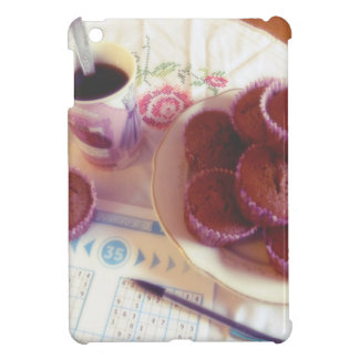 Coffee, chocolate muffins and reflection iPad mini cover