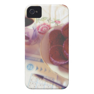 Coffee, chocolate muffins and reflection iPhone 4 case