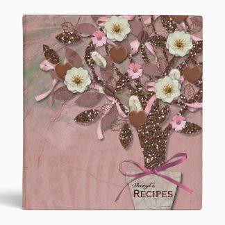 Coffee Chocolate Pink Brown Recipe Binder