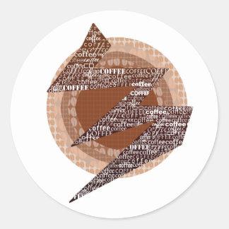 Coffee Classic Round Sticker