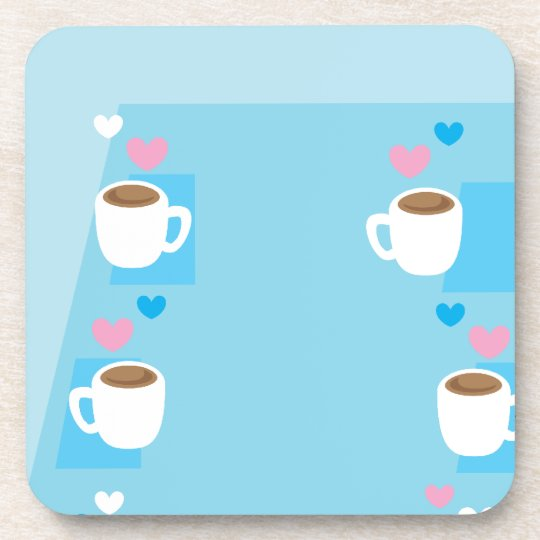 Coffee club group gathering of coffees beverage coaster
