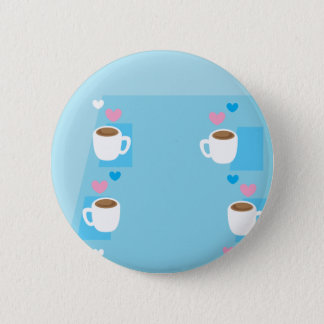 Coffee club group gathering of coffees button