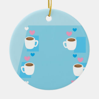 Coffee club group gathering of coffees christmas ornaments