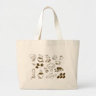 Coffee Coffee Coffee Large Tote Bag