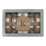 Coffee Coffee Coffee Mosaic Monogram Belt Buckles