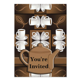 Coffee Coffee Coffee Mosaic Monogram Card