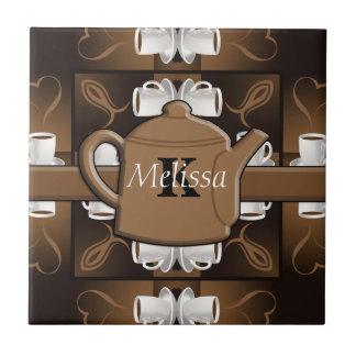 Coffee Coffee Coffee Mosaic Monogram Ceramic Tile