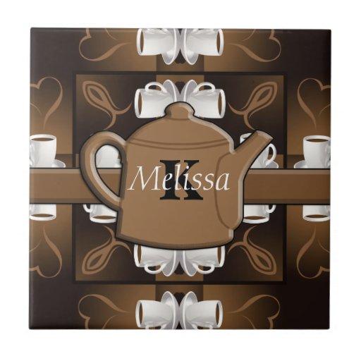 Coffee Coffee Coffee Mosaic Monogram Ceramic Tiles