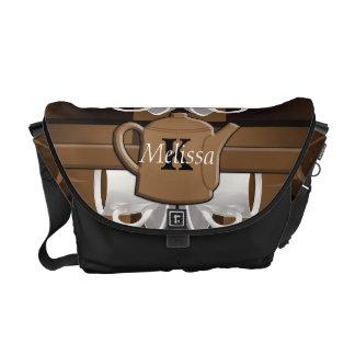 Coffee Coffee Coffee Mosaic Monogram Messenger Bag