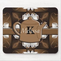 Coffee Coffee Coffee Mosaic Monogram Mouse Pad