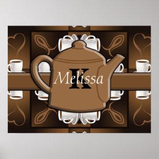 Coffee Coffee Coffee Mosaic Monogram Poster