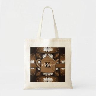 Coffee Coffee Coffee Mosaic Monogram Tote Bag