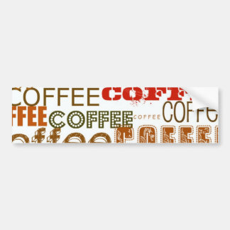 COFFEE Coffee COFFEE Multiple Words Design Car Bumper Sticker