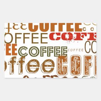 COFFEE Coffee COFFEE Multiple Words Design Rectangular Sticker