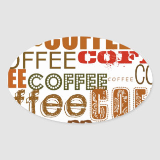 COFFEE Coffee COFFEE Multiple Words Design Stickers