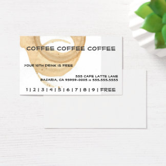 Coffee Coffee Coffee Punch Card