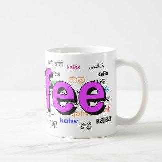 Coffee - Coffee in English, purple. Multi. Coffee Mug