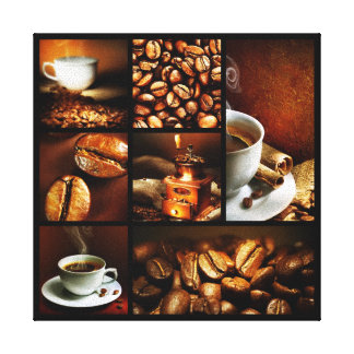 Coffee Collage 2 Canvas Print