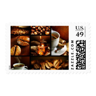 Coffee Collage 2 Postage