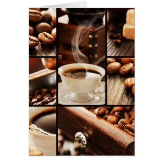 Coffee Collage Greeting Card