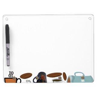 Coffee Collage Dry Erase White Board