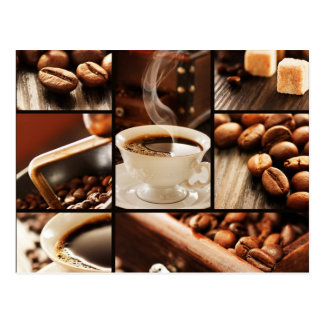 Coffee Collage Postcard