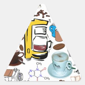 Coffee Collage Triangle Sticker