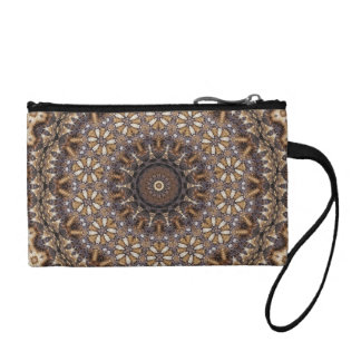 Coffee Color Brown Kaleidoscope Abstract Coin Wallet