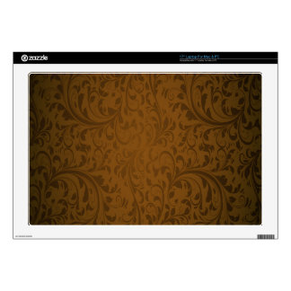 Coffee Color Swirls Decals For Laptops