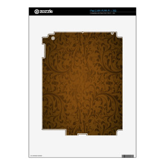 Coffee Color Swirls iPad 2 Decals