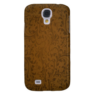 Coffee Color Swirls Samsung Galaxy S4 Cover