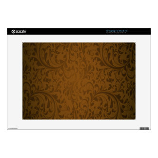 "Coffee Color Swirls Skin For 15"" Laptop"