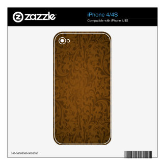 Coffee Color Swirls Skin For iPhone 4S