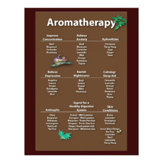 Coffee Colored Aromatherapy Chart flyer