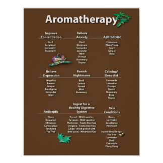 Coffee Colored Aromatherapy Chart Poster