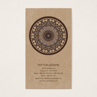 Coffee Colors Abstract Mandala Business Card