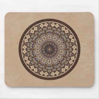 Coffee Colors Abstract Mandala Mouse Pad