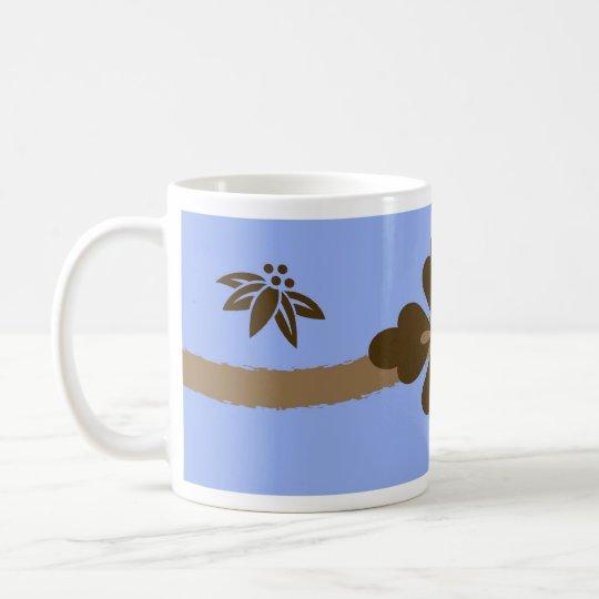 Coffee Colors Leaf and Flourish Monogram Mug