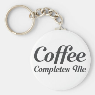 Coffee Completes Me Keychain
